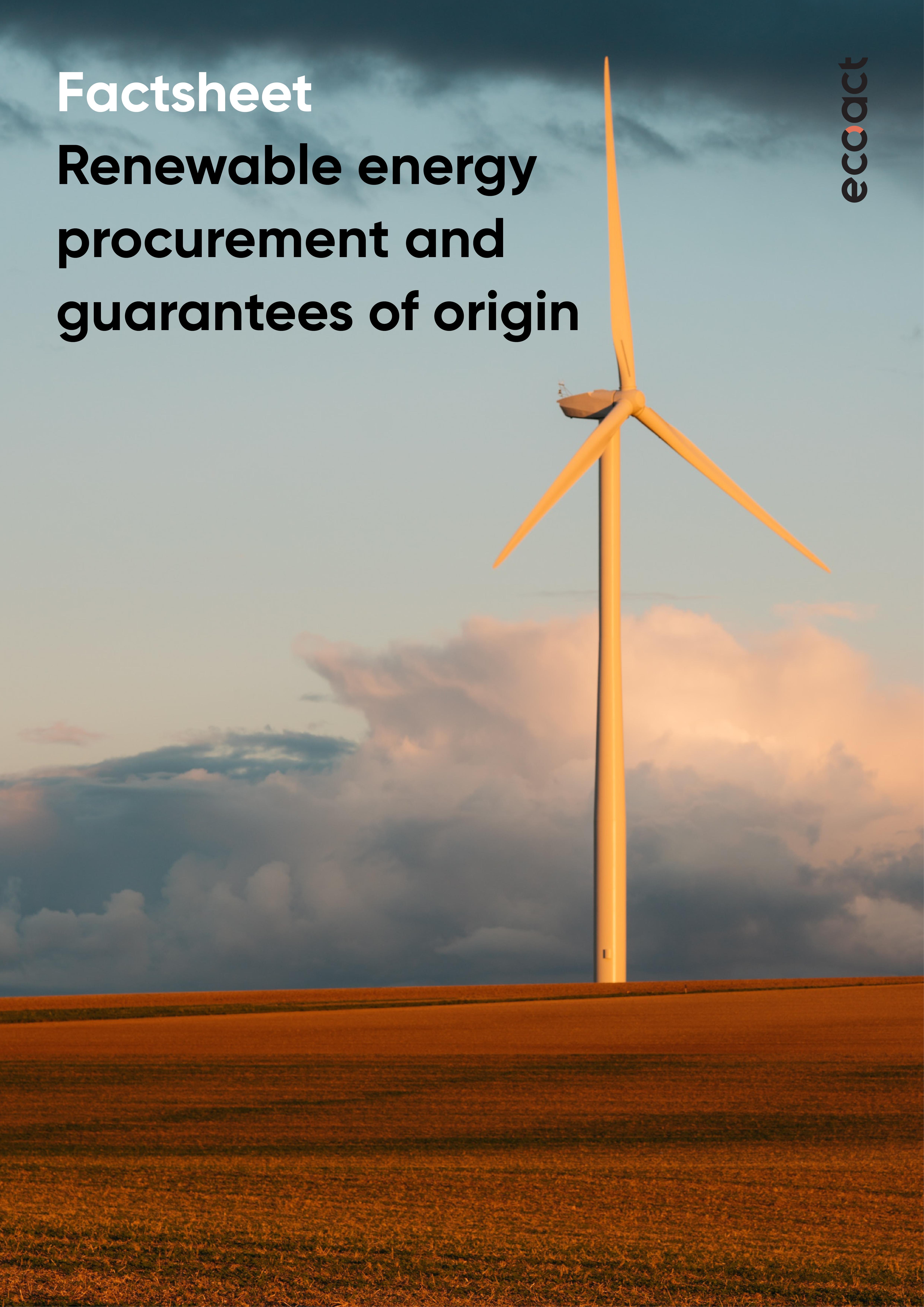 Renewable energy procurement and GOs - image