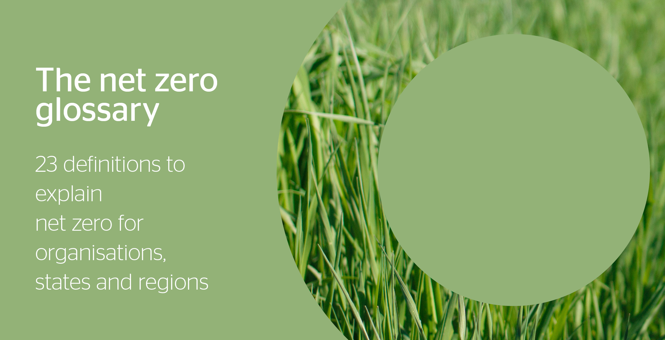23 definitions for Net Zero glossary